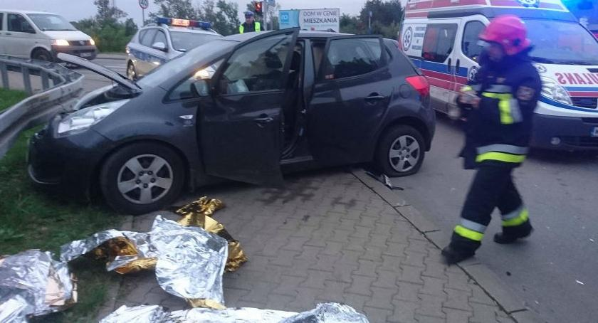 Bezpieczeństwo, Wypadek Płochocińskiej zdjęcia straży przestrodze - zdjęcie, fotografia