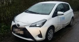 Toyota skradziona na Białołęce znaleziona na...Białołęce